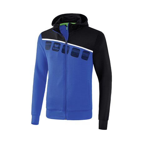 ERIMA 5-C Trainingsjacke mit Kapuze Kinder